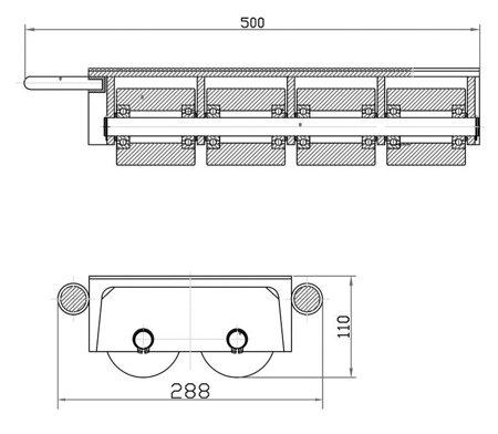 DOSTAWA GRATIS! 44366797 Podwójne rolki transportowe, transportery (udźwig: 24000 kg)