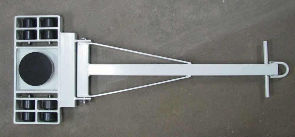Stalmechon Wózek skrętny do transportu maszyn, urządzeń i sprzętu (rolki: 8x poliamid, nośność: 9 ton) 50276390