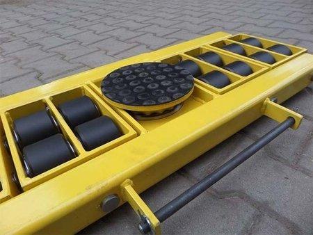 Wózek skrętny 16 rolkowy, rolki: 16x nylon (nośność: 14 T) 12267438