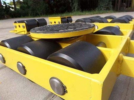Wózek skrętny 6 rolkowy, rolki: 6x kompozyt (nośność: 7 T) 12267429