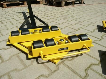 Wózek skrętny 8 rolkowy z prostokątną płytą nośną, rolki: 8x kompozyt (nośność: 12 T) 12235613