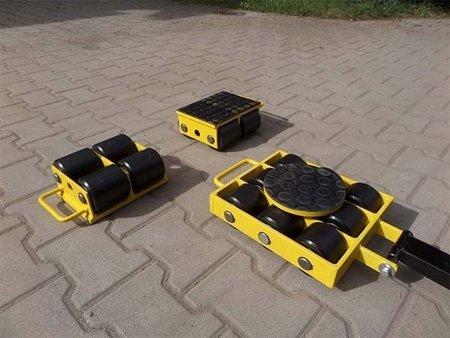 Zestaw wózków, rolki: 16x nylon (nośność: 15 T) 12267445