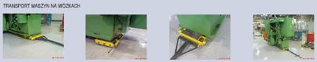 Zestaw wózków, rolki: 8x nylon (nośność: 8 T) 12235615